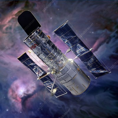 Hubble space telescope, illustration