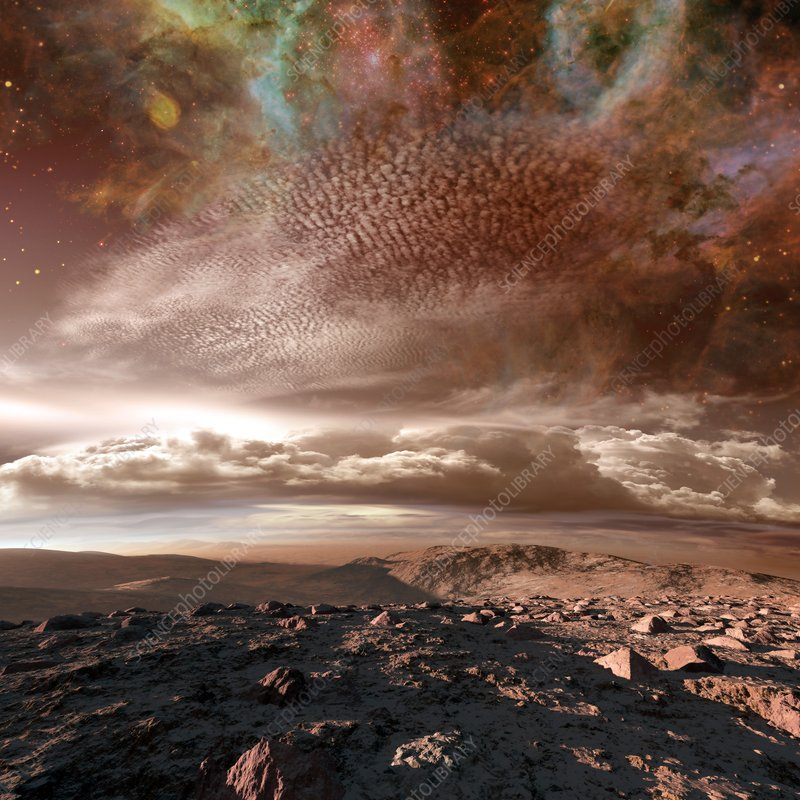 Alien planet, illustration