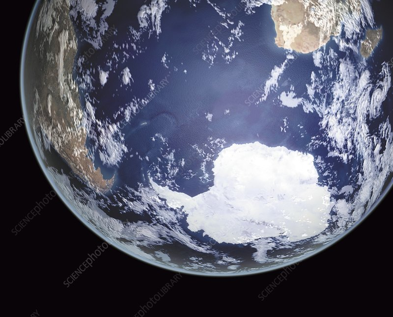 Earth in space, illustration