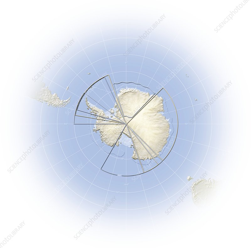 Political map of Antarctica