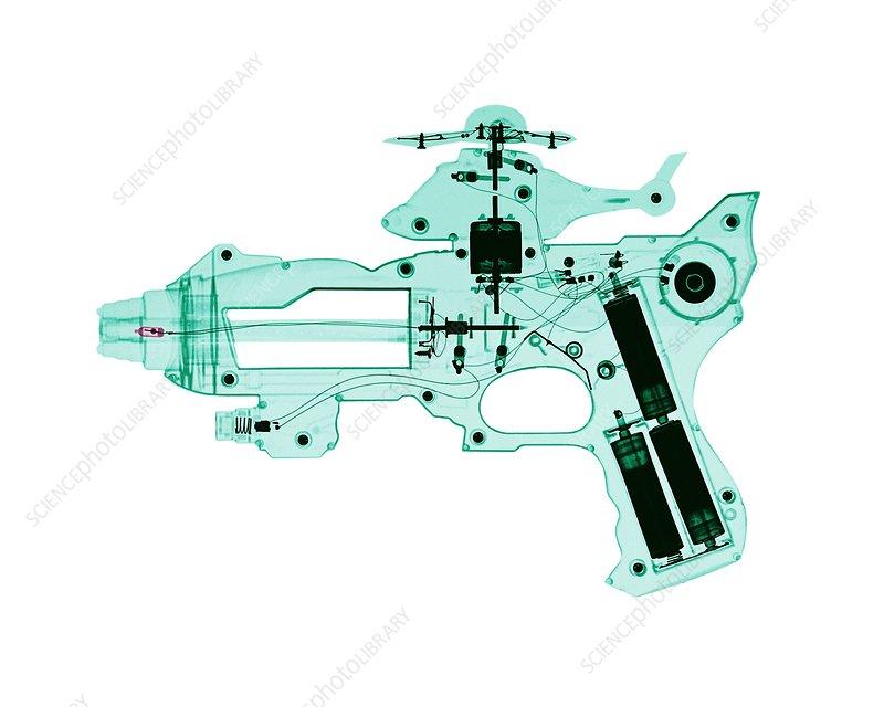 Toy gun, X-ray