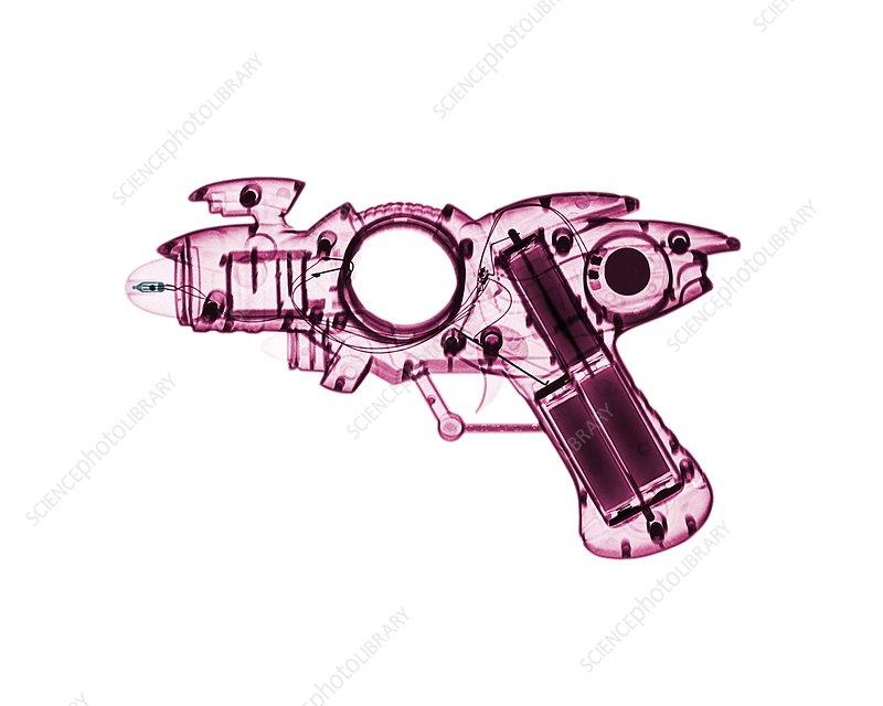 Toy ray gun, X-ray