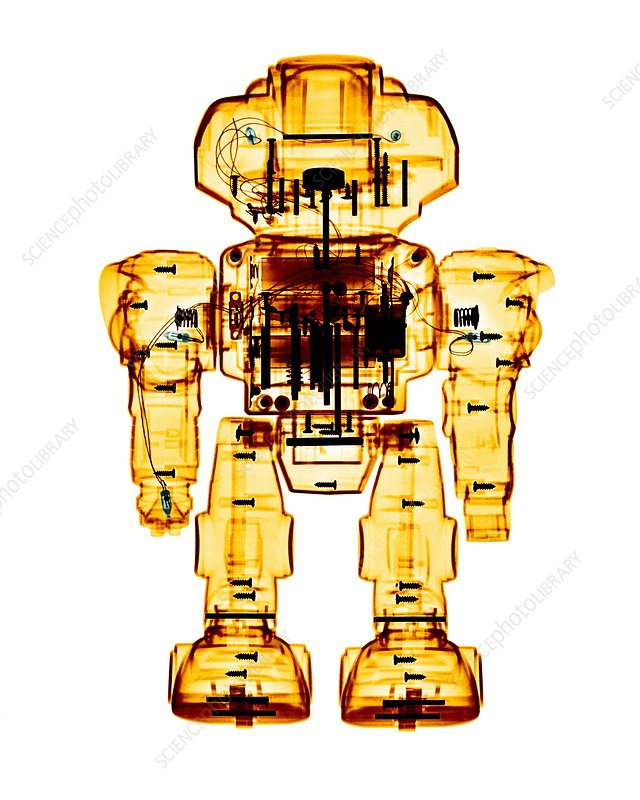 Toy robot, X-ray