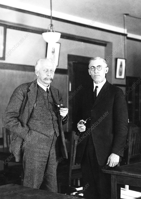Geneticists Bateson and Emerson, 1922