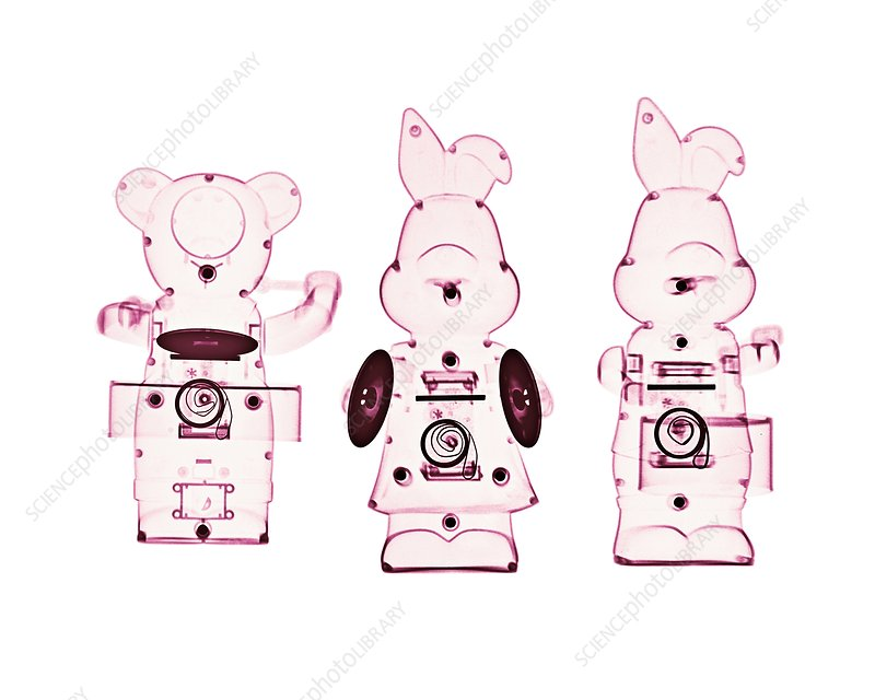 Mechanical toys, X-ray