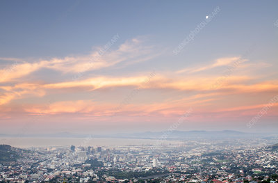 Air pollution, Cape Town, South Africa