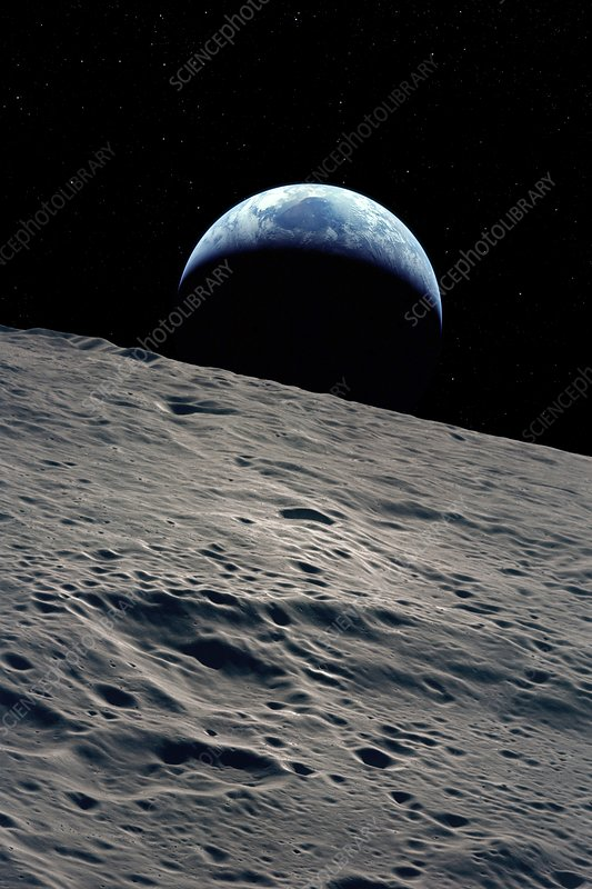 Earthrise over the Moon, illustration