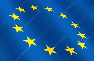 European flag, illustration