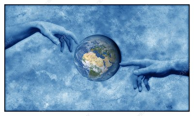 Creation of the Earth, conceptual image.