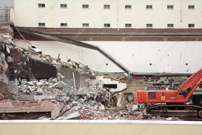 Demolition Of Science : Building demolition stock image c  science