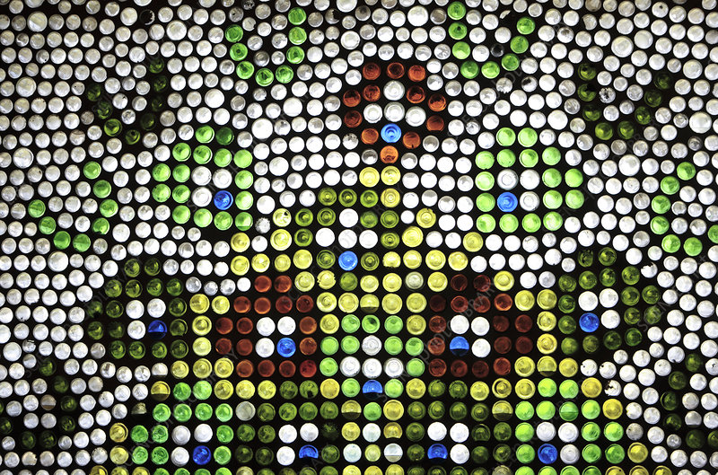 Window made from recycled bottles