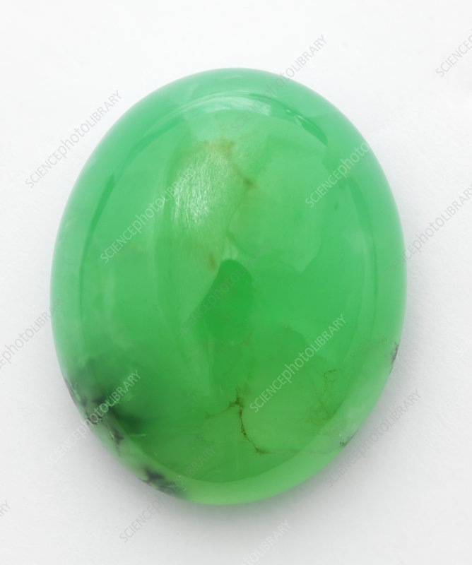 Oval polished green Chrysoprase