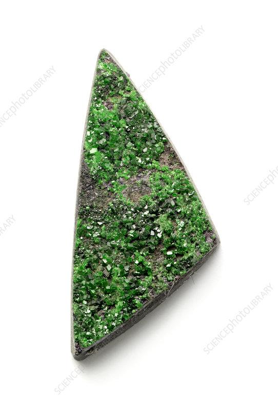 Rare bright green Uvarovite Garnet