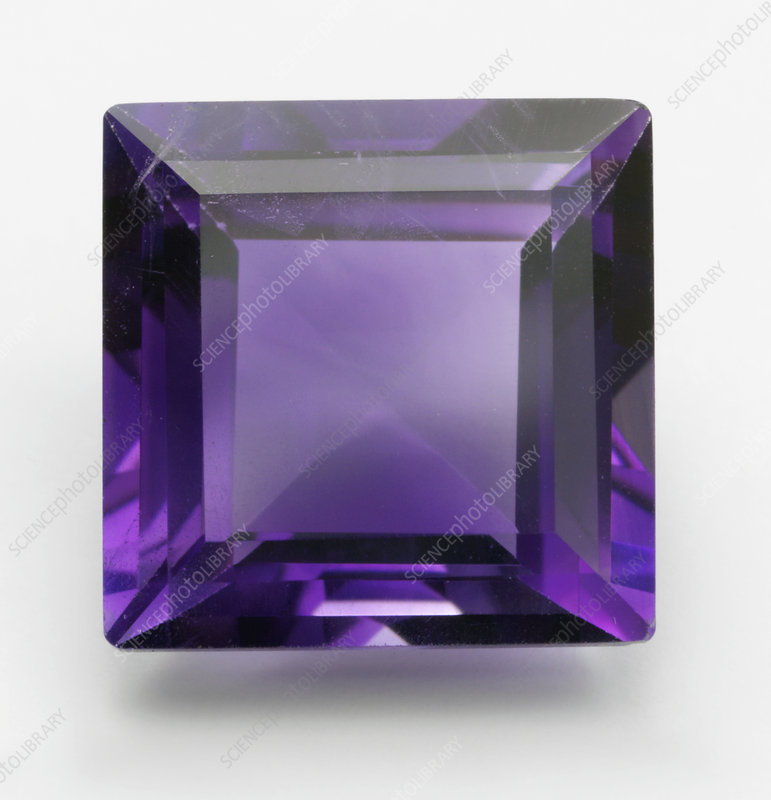 Square cut purple Amethyst gemstone