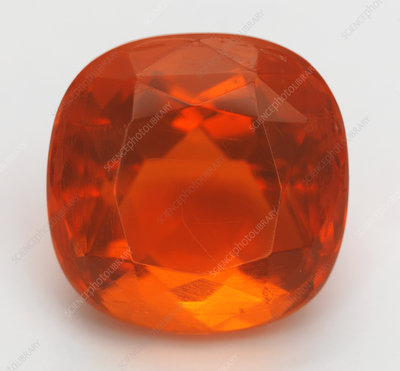 Cut Fire Opal gemstone