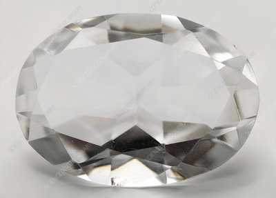 Cut Quartz gemstone