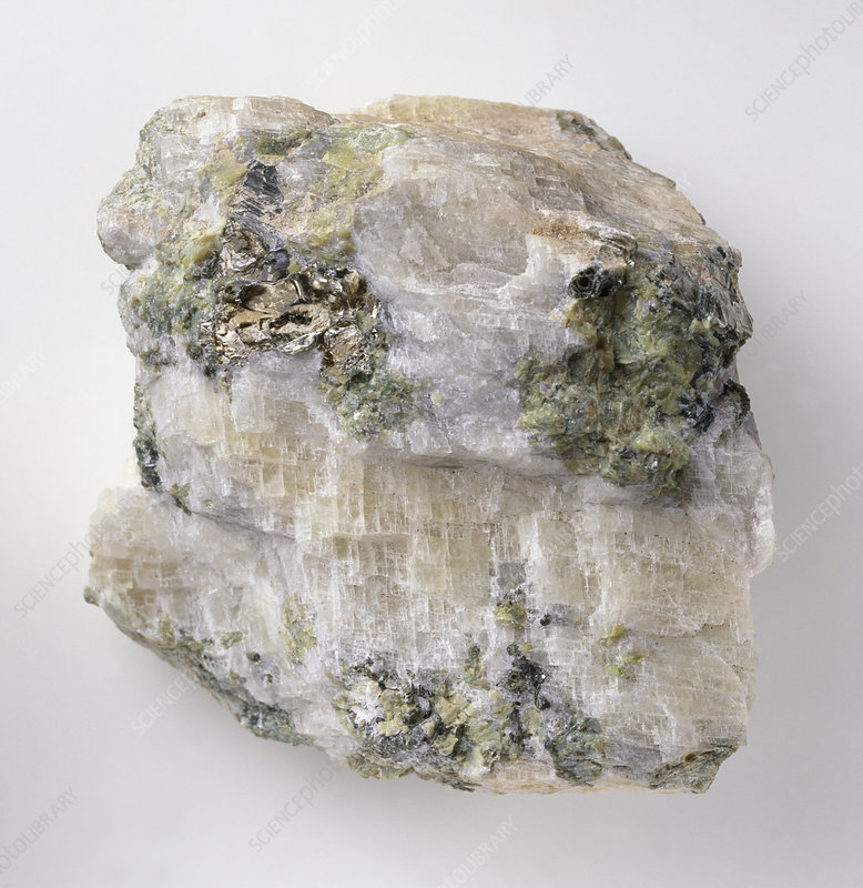 Magnesite crystals in groundmass