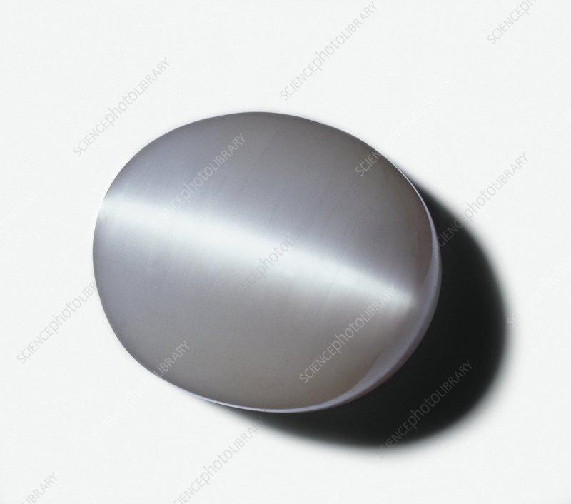 Gypsum Satin Spar ~ Opalescent gypsum or satin spar stock image c