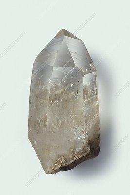 Rough quartz crystal