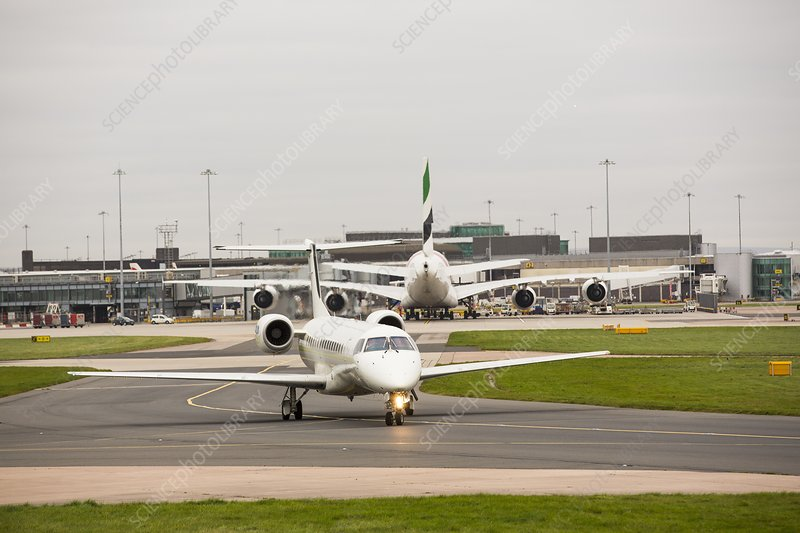 Private Jet At Manchester Airport  Stock Image C0242586  Science Photo Lib