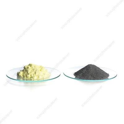 Sulphur and iron filings