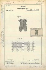 Cork swimming suit patent, 1882
