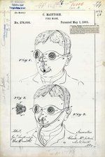 Fire mask patent, 1883