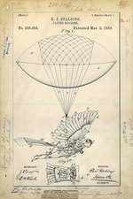 Flying machine patent, 1889