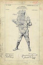 Baseball catcher patent, 1904