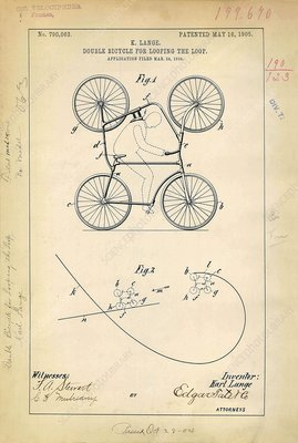 Double bicycle patent, 1905