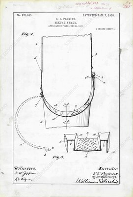 Sexual armour patent, 1908