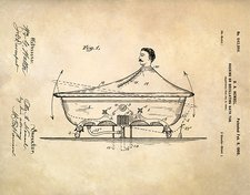 Rocking bathtub patent, 1900