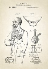 Smoke excluding mask patent, 1877