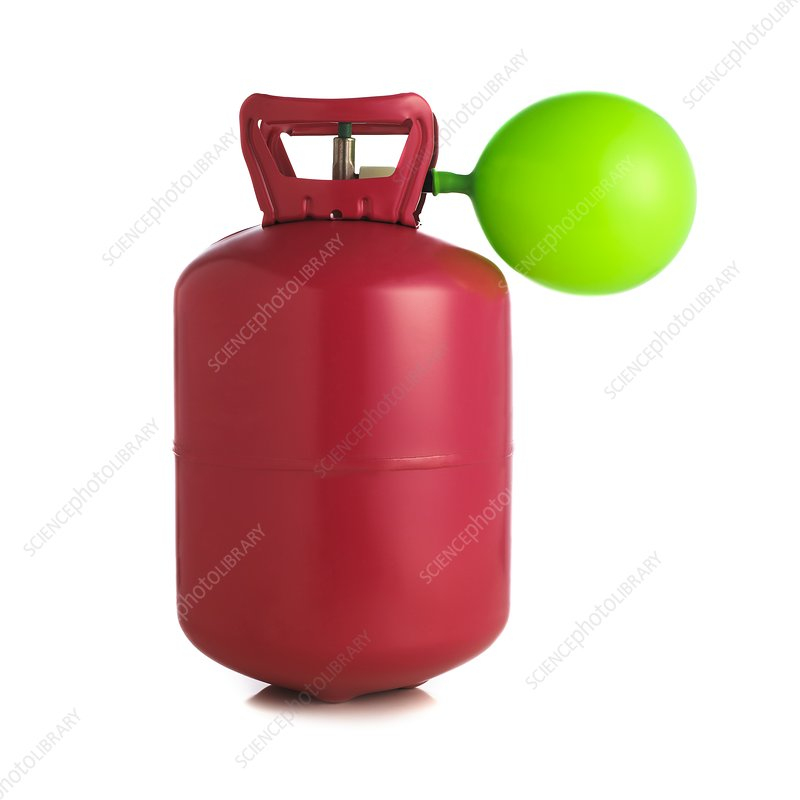 Helium gas cylinder and balloon