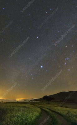 Night sky in dark sky reserve, Portugal