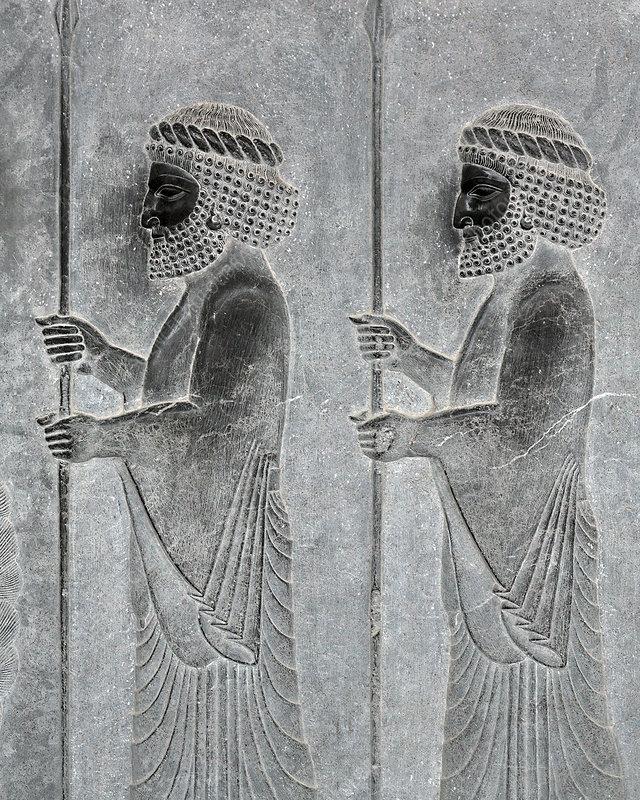 Bas relief persepolis iran stock image c