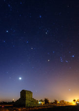 Night sky over tomb of Cyrus the Great
