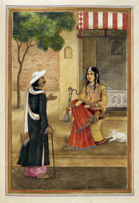 Indian harlot, 19th Century illustration