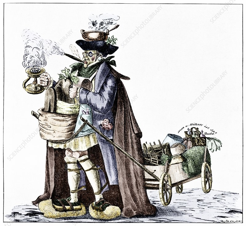 Cholera prevention, satirical artwork