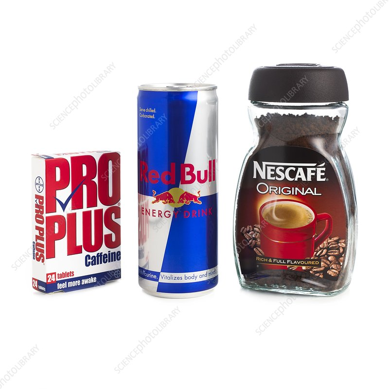 Products containing caffeine