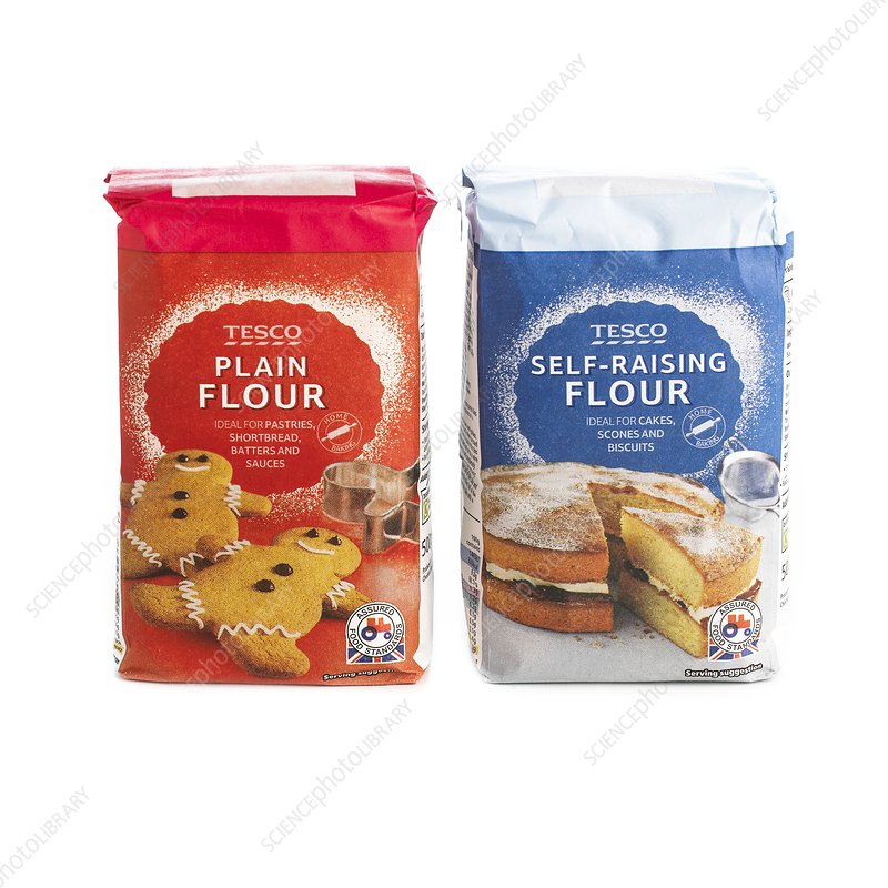 Plain and self-raising flours