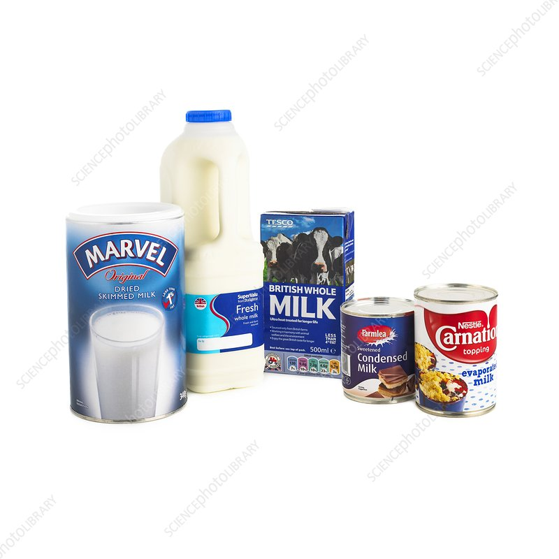 Different types of milk