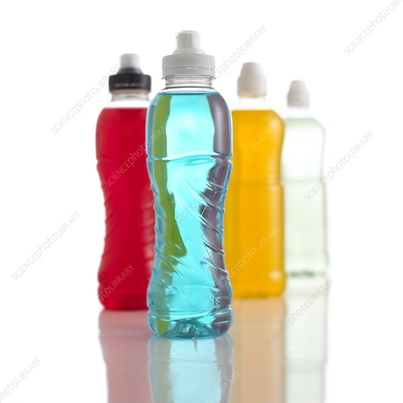 Bottles containing isotonic drinks