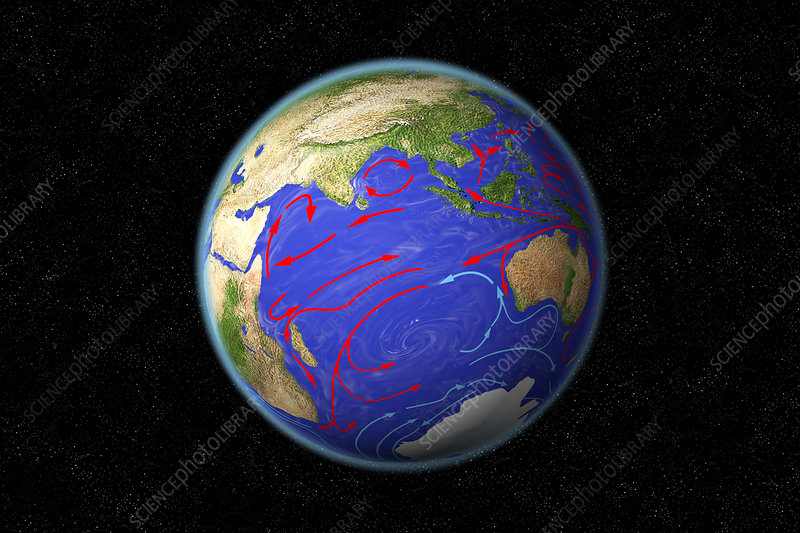Indian Ocean Currents, illustration