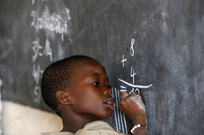 African primary school (Togo) Pupil at th
