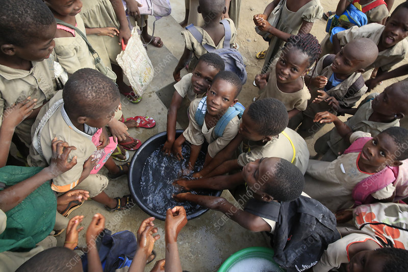 African primary school (Togo) Pupils wash