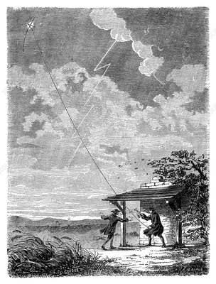 Franklin's lightning experiment, 1752