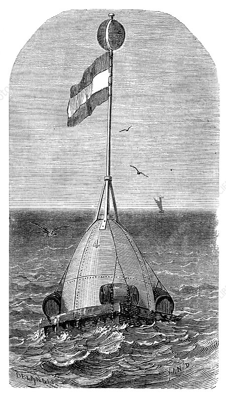 Atlantic telegraph cable laying, 1865