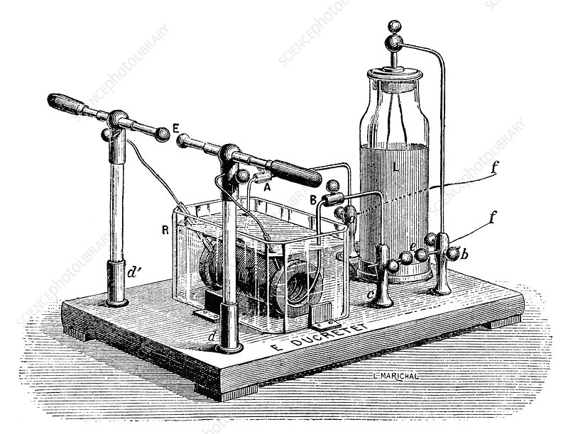 Tesla high-frequency condenser, 1890s