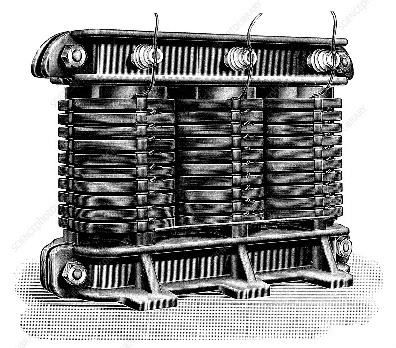 Electricity transformer, 1900s